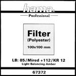 Optical Filter Foil Wratten 85, 100 x 100mm
