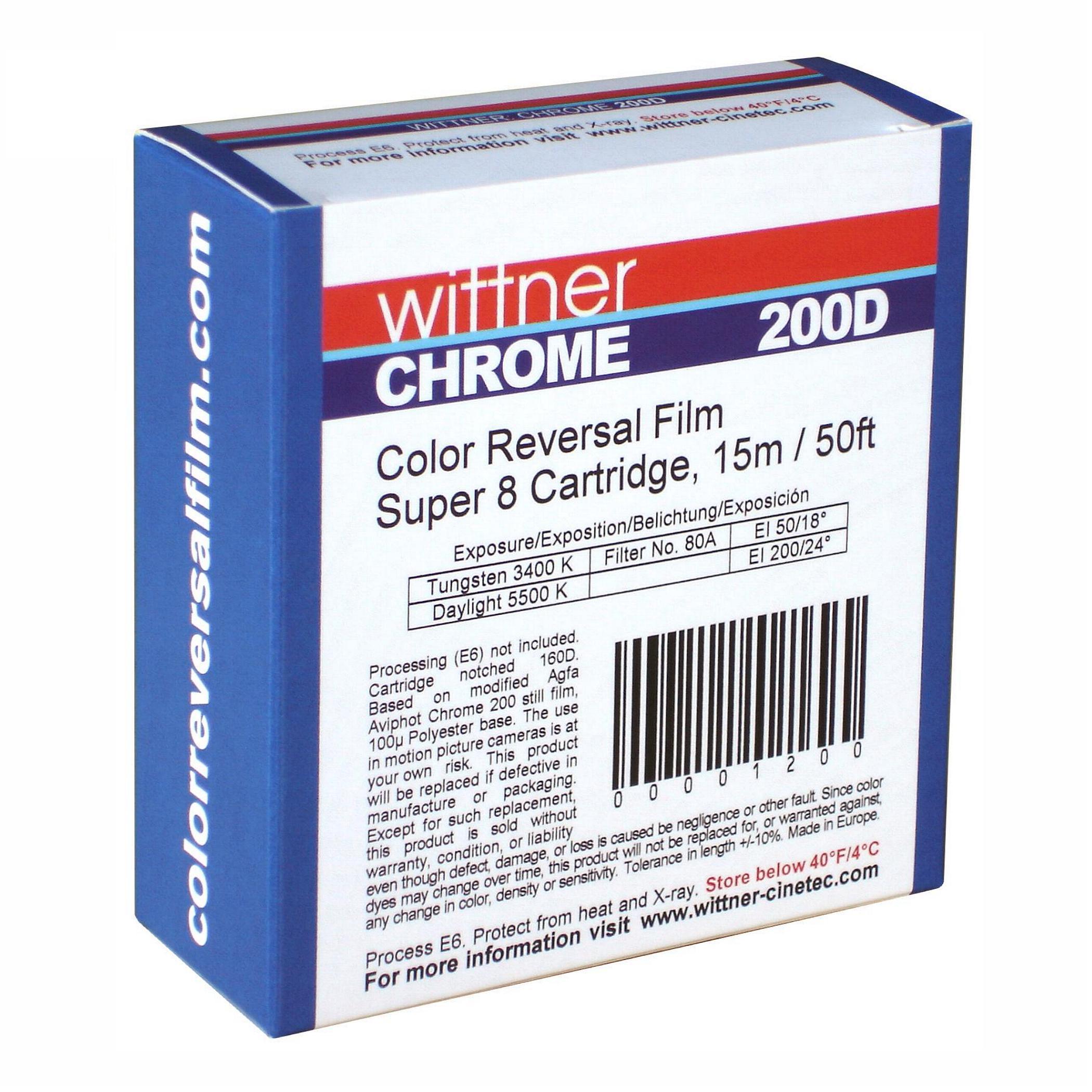 WITTNER Chrome 200D, Super 8 cartridge, 50ft/15m