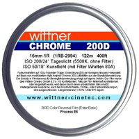WITTNER Chrome 200D, 16mm 1R, 400ft / 122m