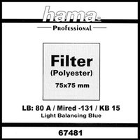 Optical Filter Foil Wratten 80A, 75 x 75mm