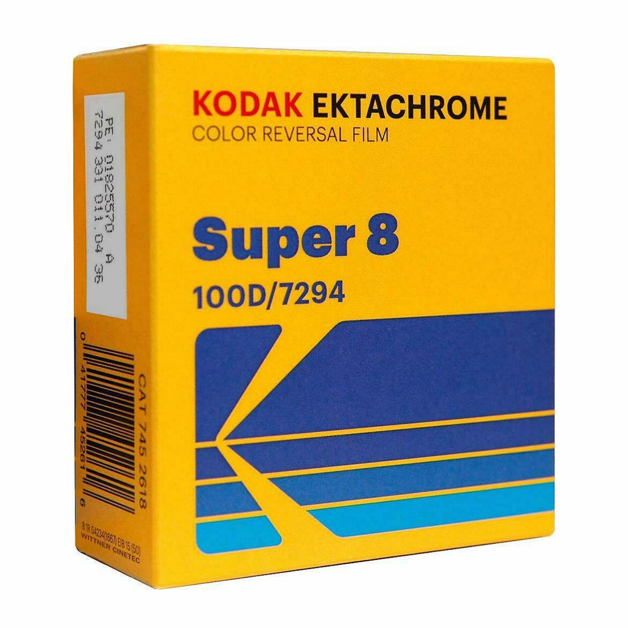 KODAK Ektachrome 100D, Super 8 cartridge, 50ft/15m