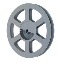 Film Reel 16mm, 400ft / 120m, plastic, grey