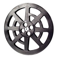 Film Reel 16mm, 2000ft / 600m, plastic, black