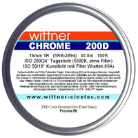 WITTNER Chrome 200D, 16mm 1R, 100ft / 30.5m